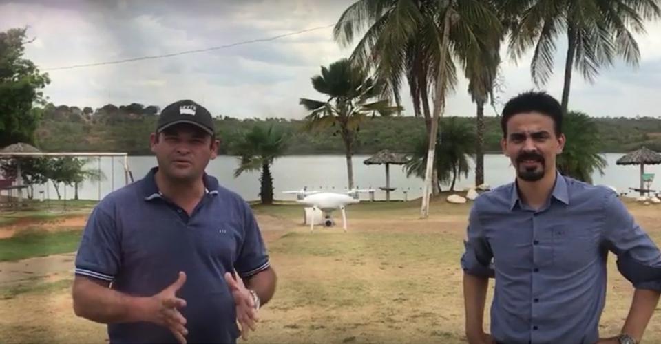 Prefeito de São Domingos – Fala sobre a regularização do Município – Juntamente com INAMS.